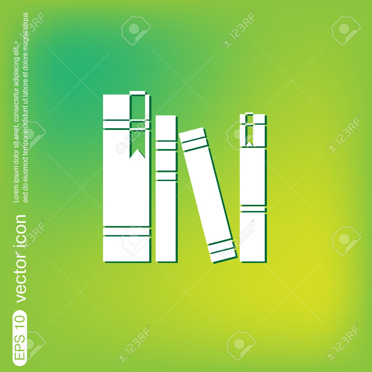 symbol for literature book spine spines of books icon symbol of a  book spine spines of books icon symbol of a science and vector book spine spines of