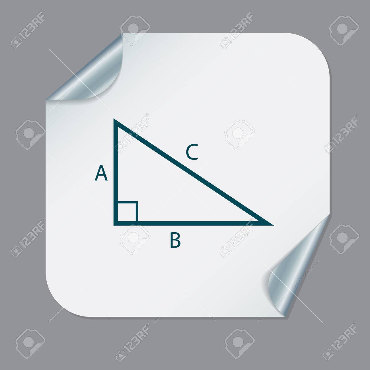 Triangle Math Icon Symbol Icon Geometry Learning Math Royalty Free
