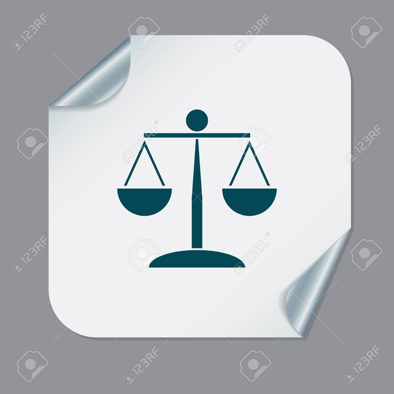 Scales Of Justice Icon Symbol Of Justice Royalty Free Cliparts