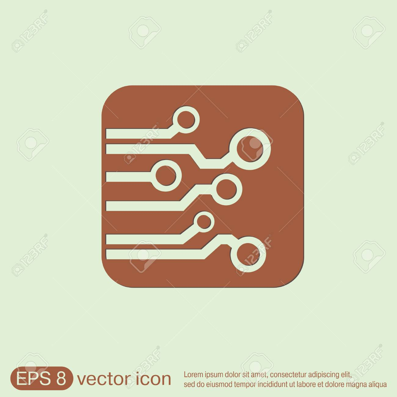Circuit Board Sign Icon. Technology Scheme Symbol. Royalty Free ...