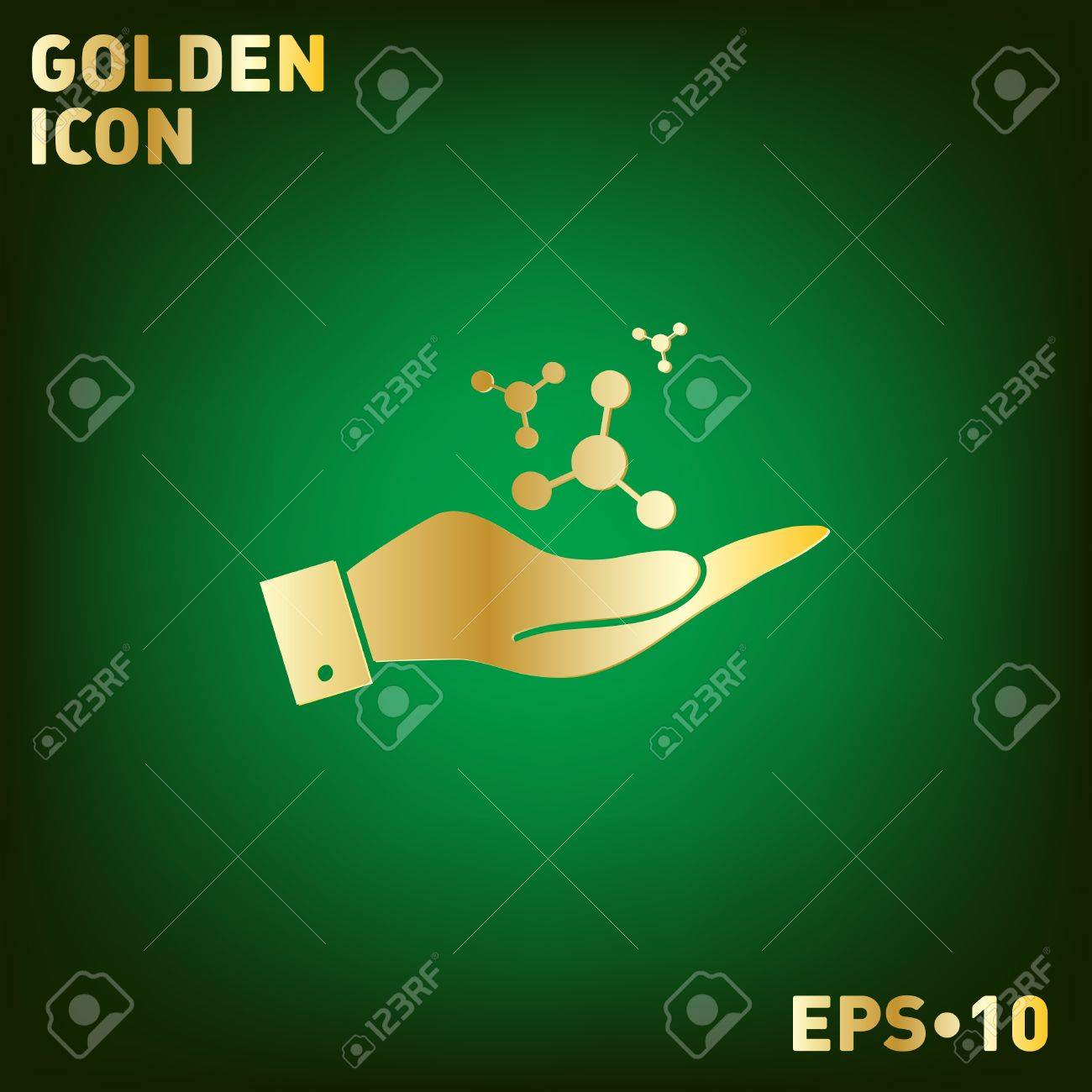 Hand holding the atom molecule the symbol of physics and hand holding the atom molecule the symbol of physics and chemistry symbol icon buycottarizona