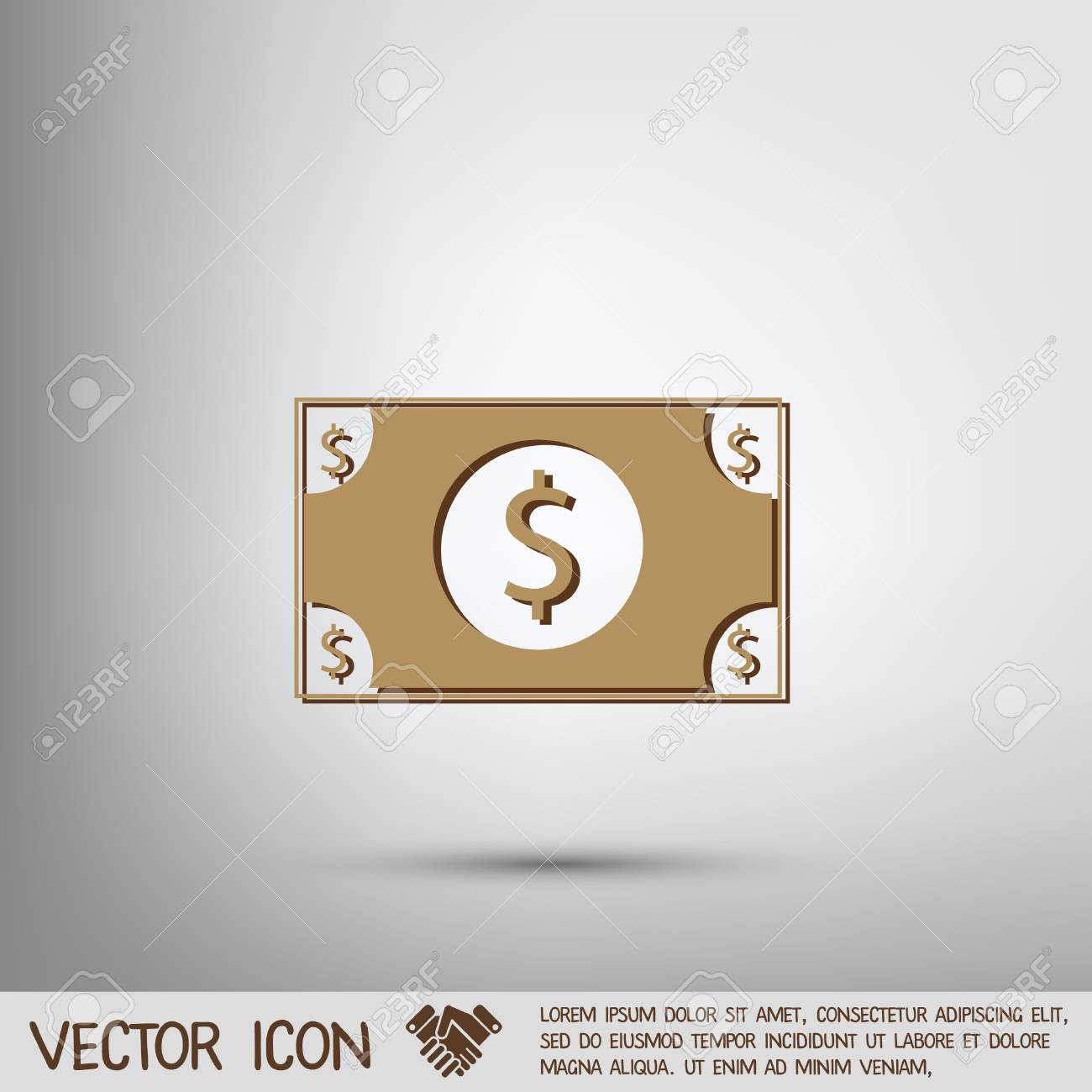 Dollar Bill Symbol Of Money Stock Vector 43630664