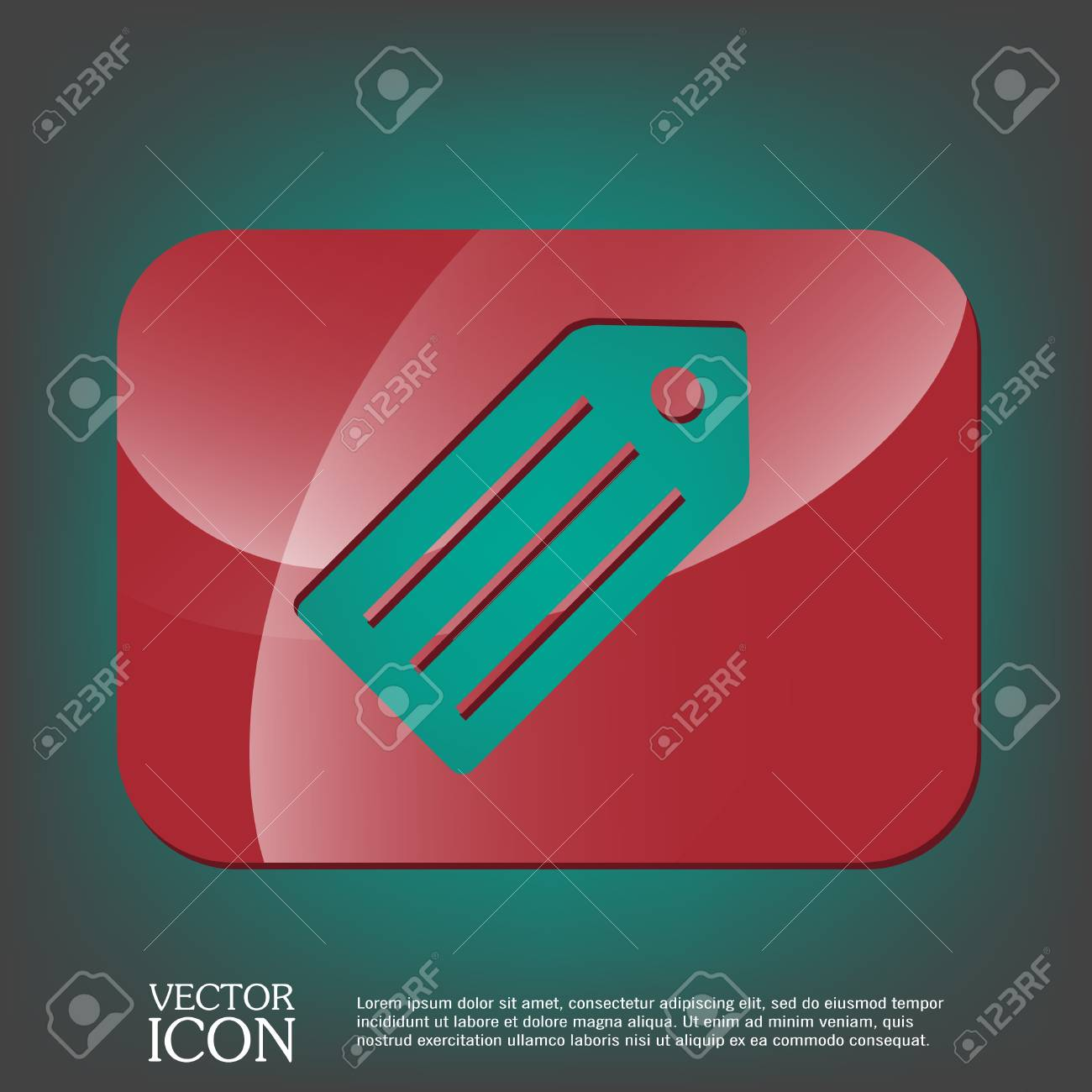 label  symbol label for clothing or goods  stock vector - 43631063