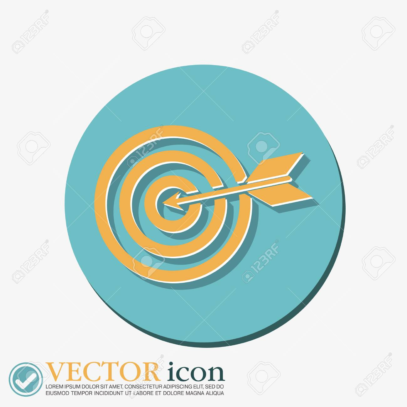 Target symbol sporty character hit the target royalty free target symbol sporty character hit the target stock vector 44037766 buycottarizona Image collections