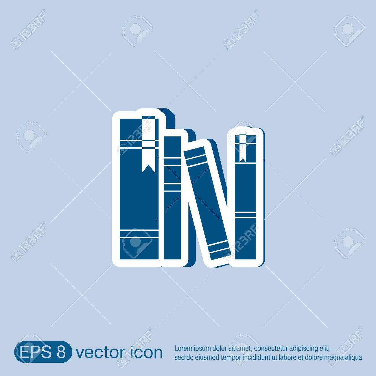 book spine spines of books icon symbol of a science and  book spine spines of books icon symbol of a science and literature stock vector