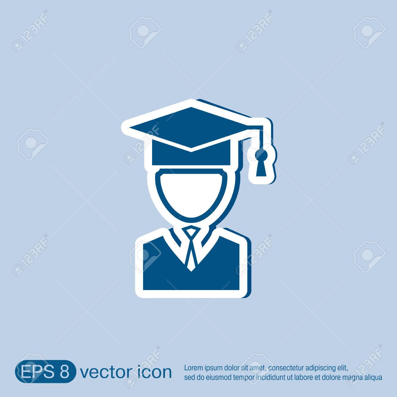 graduate hat avatar sign the head of the student learner education