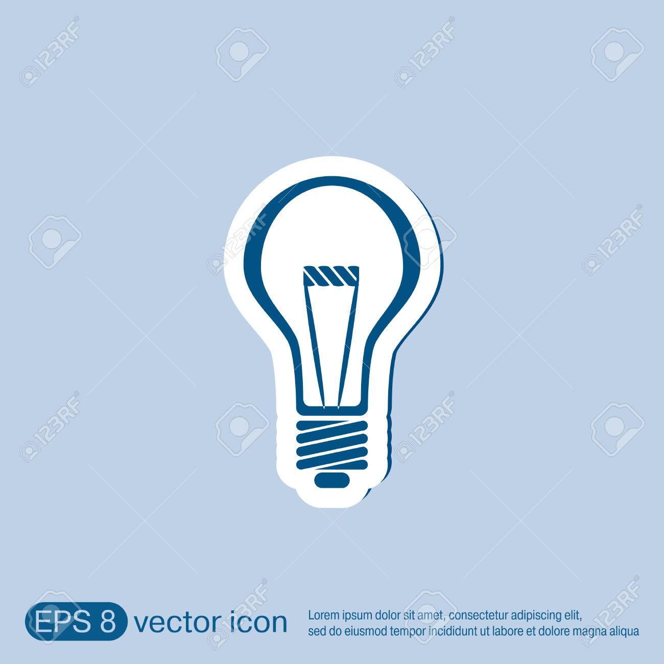 Glühbirne Zeichen. Charakter Ideen. Glühlampe . Symbol Des ...