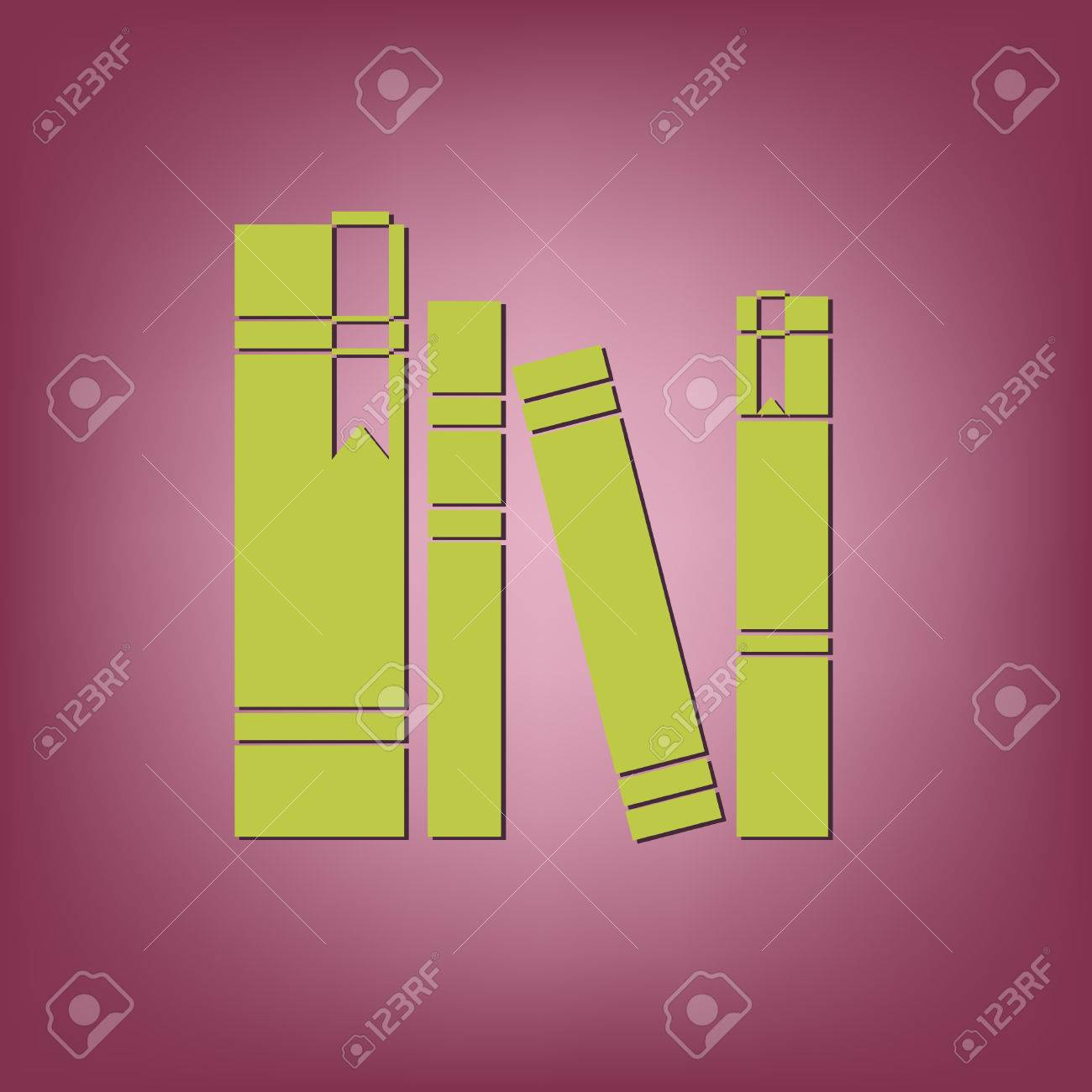 Book Spine Spines Of Books Icon Symbol Of A Science And Literature