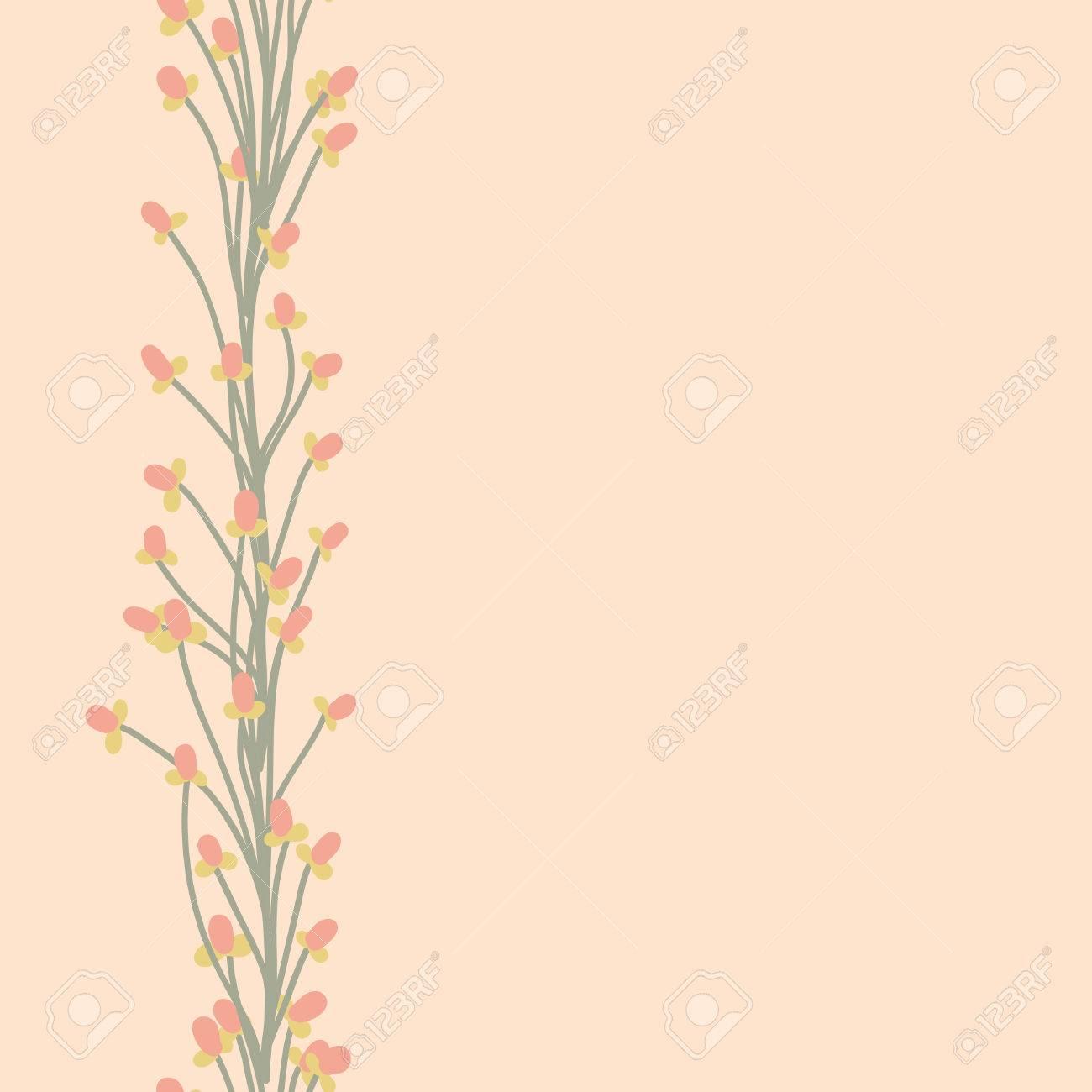 花のベクトル パターン 花とシームレスな落書きテクスチャです