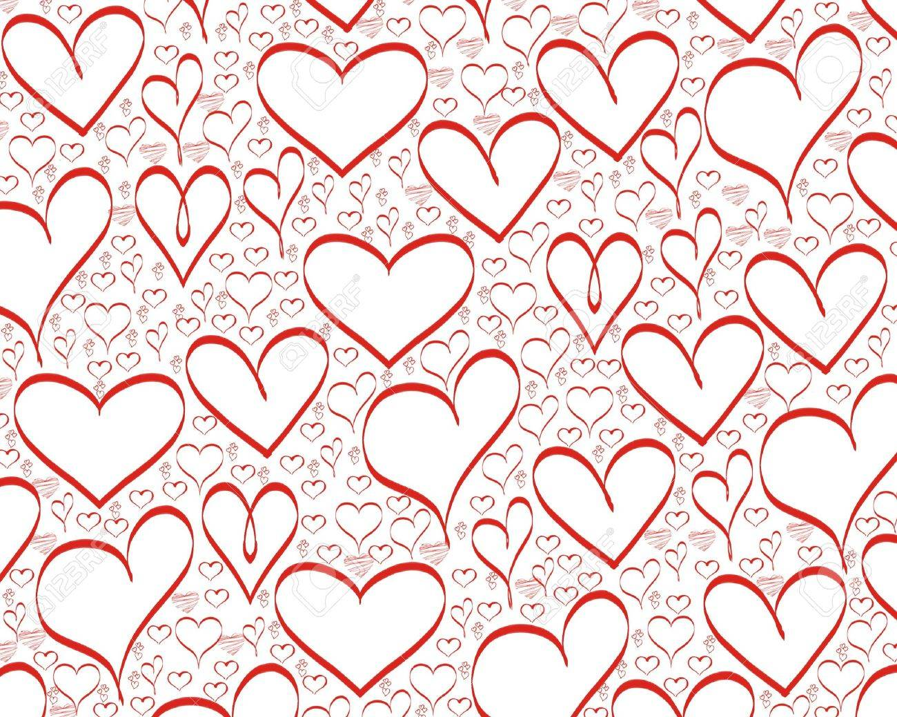 Red Hearts Background For Valentines Day Stock Photo Picture And