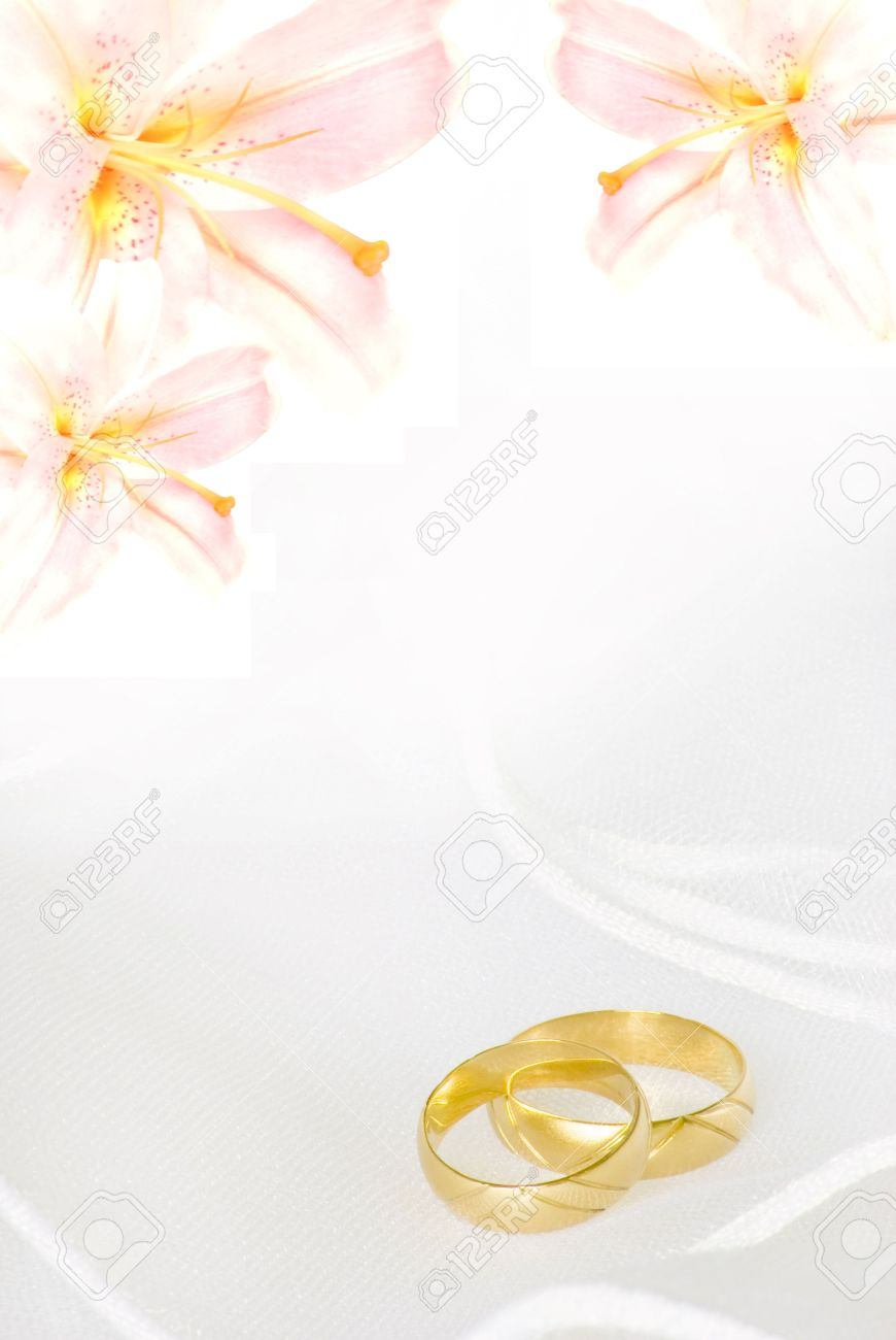 wedding invitation or greeting card blank with lily flowers and Blank Golden Wedding Invitations wedding invitation or greeting card blank with lily flowers and golden rings stock photo 4836600 blank golden wedding invitations
