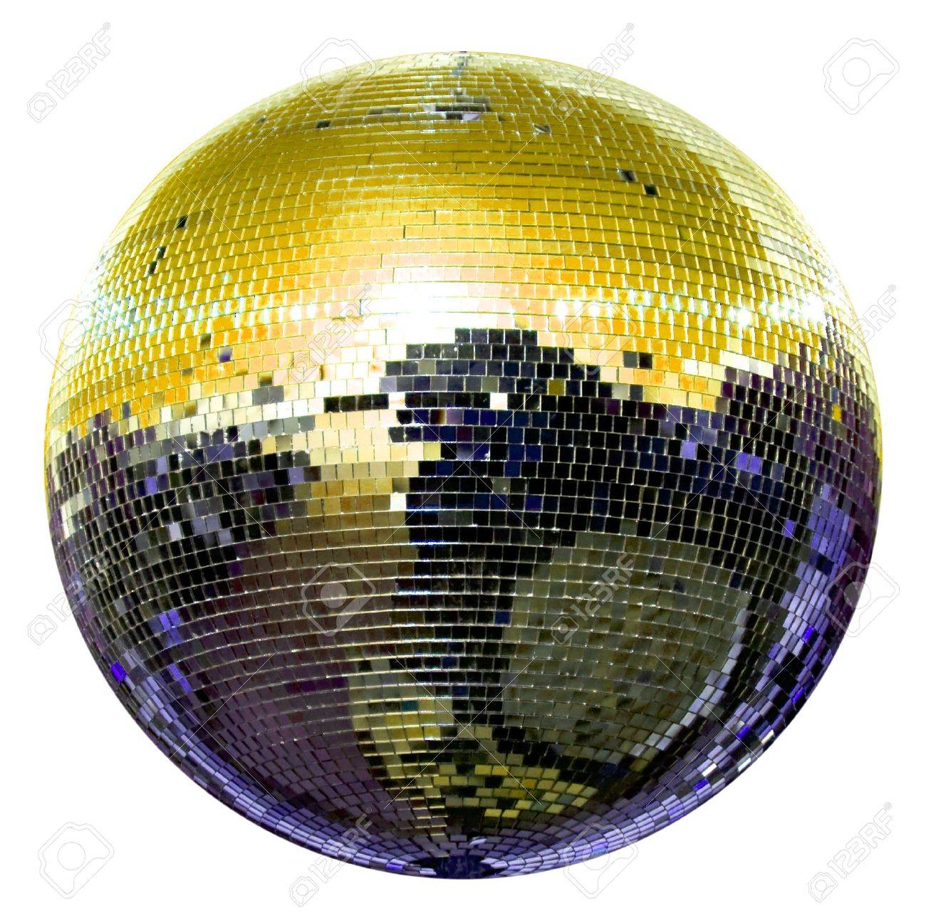 spinning disco ball isolated on white Stock Photo - 5968705