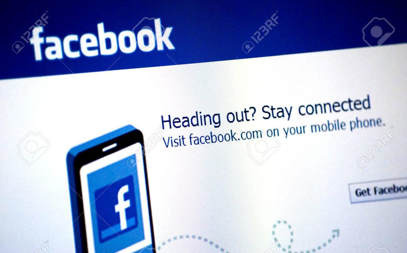 Facebook Logo on a laptop screen Stock Photo - 9716368