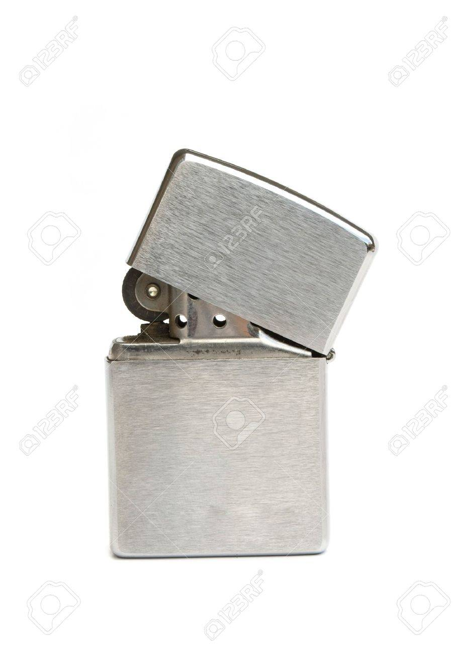 silver zippo lighter isolated on white background Stock Photo - 9964405