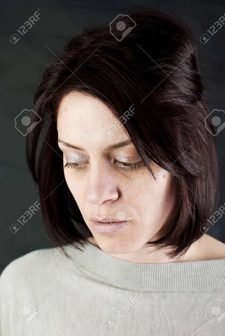 conceptual portrait of stressed abused young woman Stock Photo - 19877995