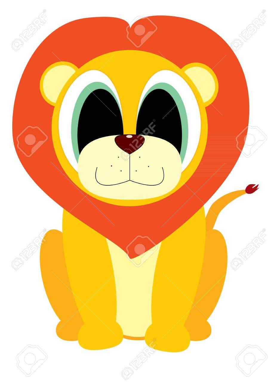 Vector illustration of cartoon Lion Stock Vector - 15000159