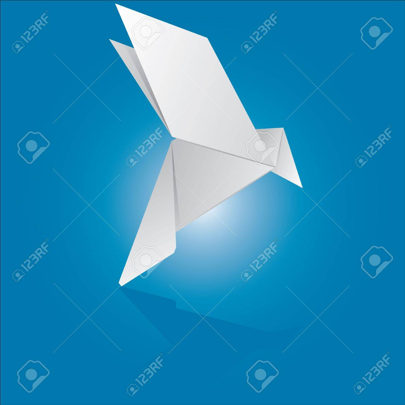 Vector Illustration Of An Origami Dove Royalty Free Cliparts