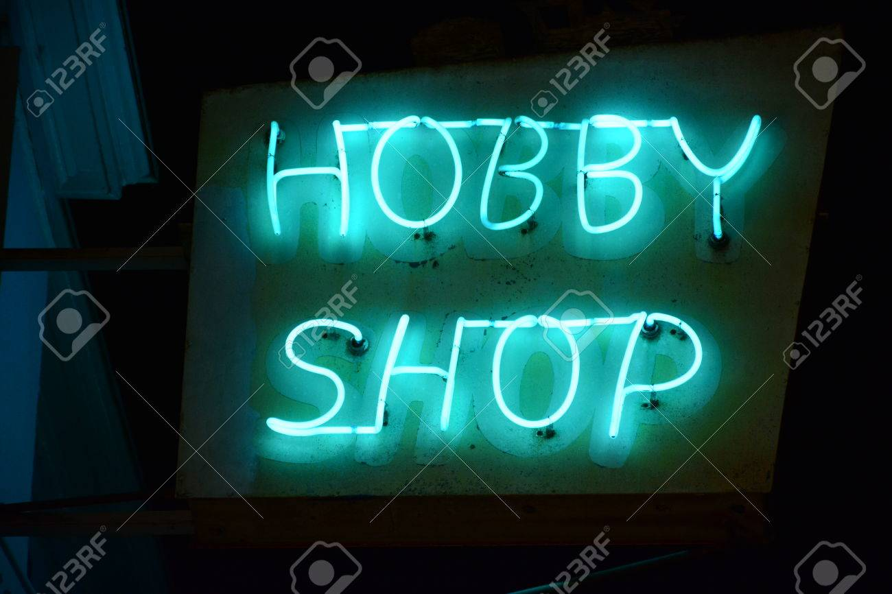 Neon Sign At A Craft Store Stock Photo Picture And Royalty Free