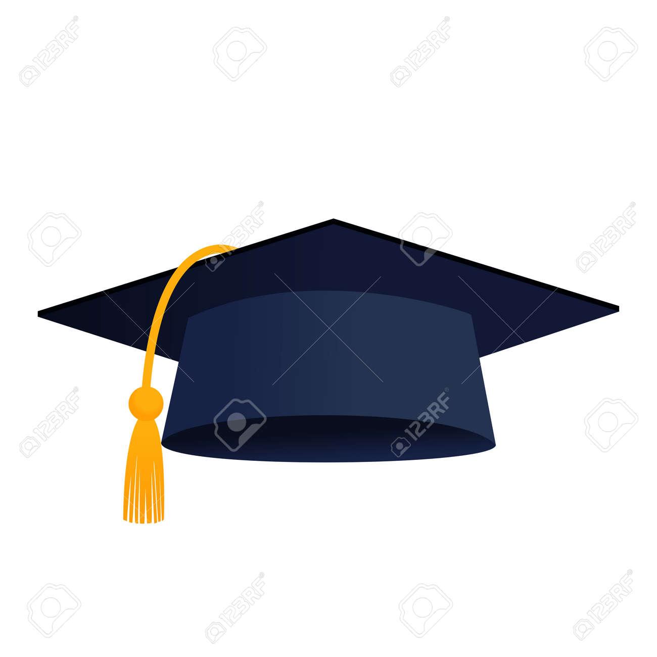 Graduation cap hat isolated vector icon - 156093215