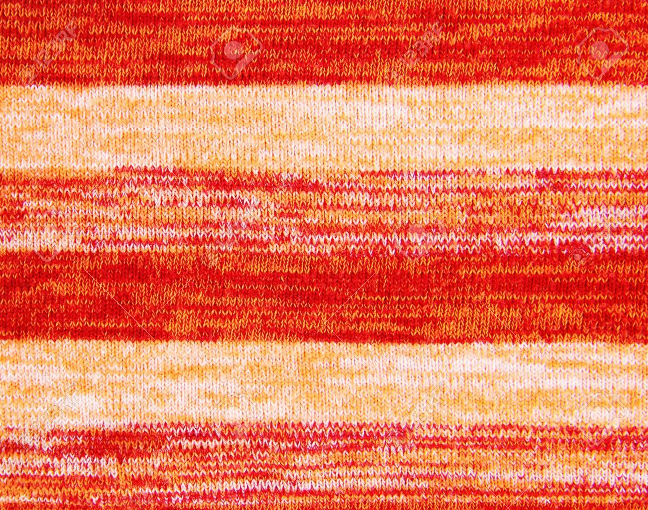 Orange knitted fabric Stock Photo - 17453810