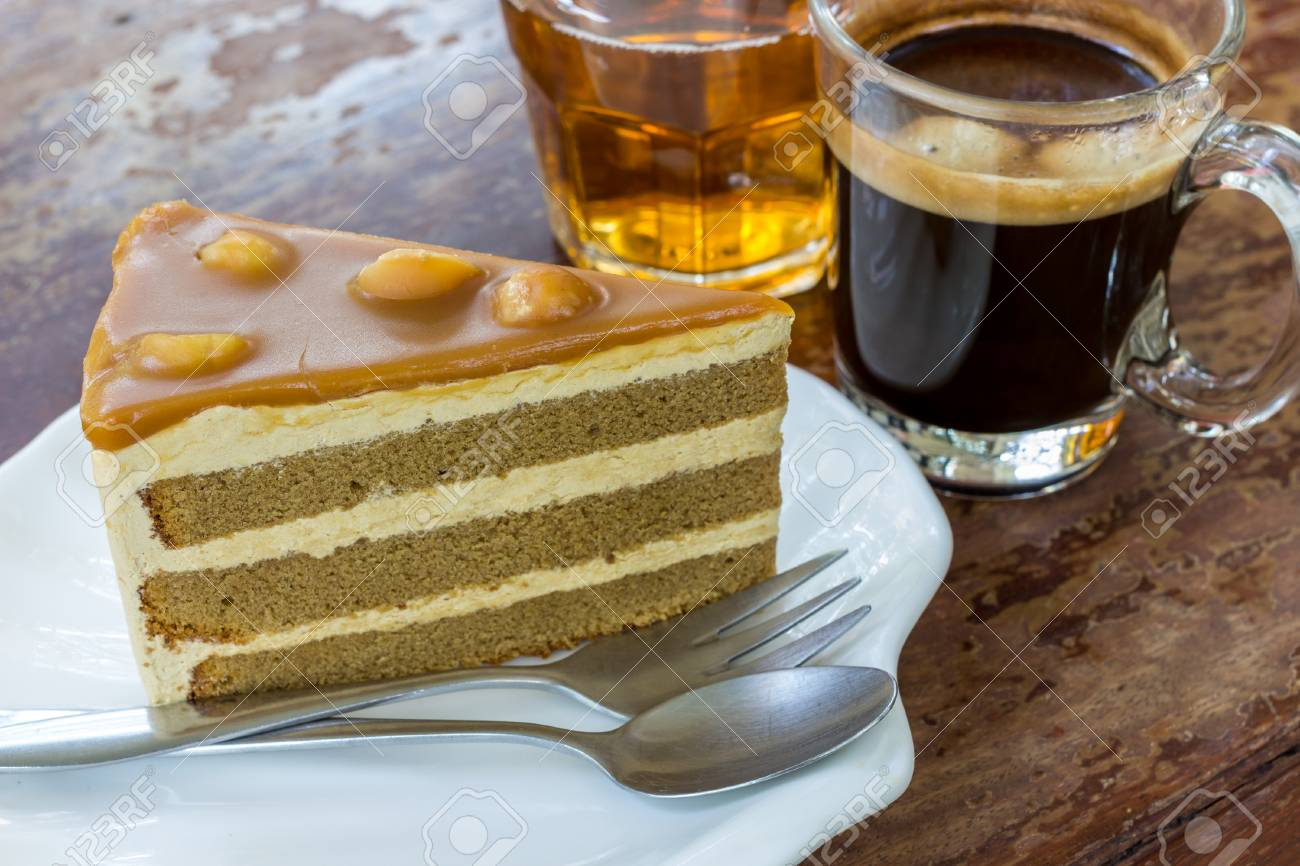 Coffee Cake With Black Stock Photo 54284460