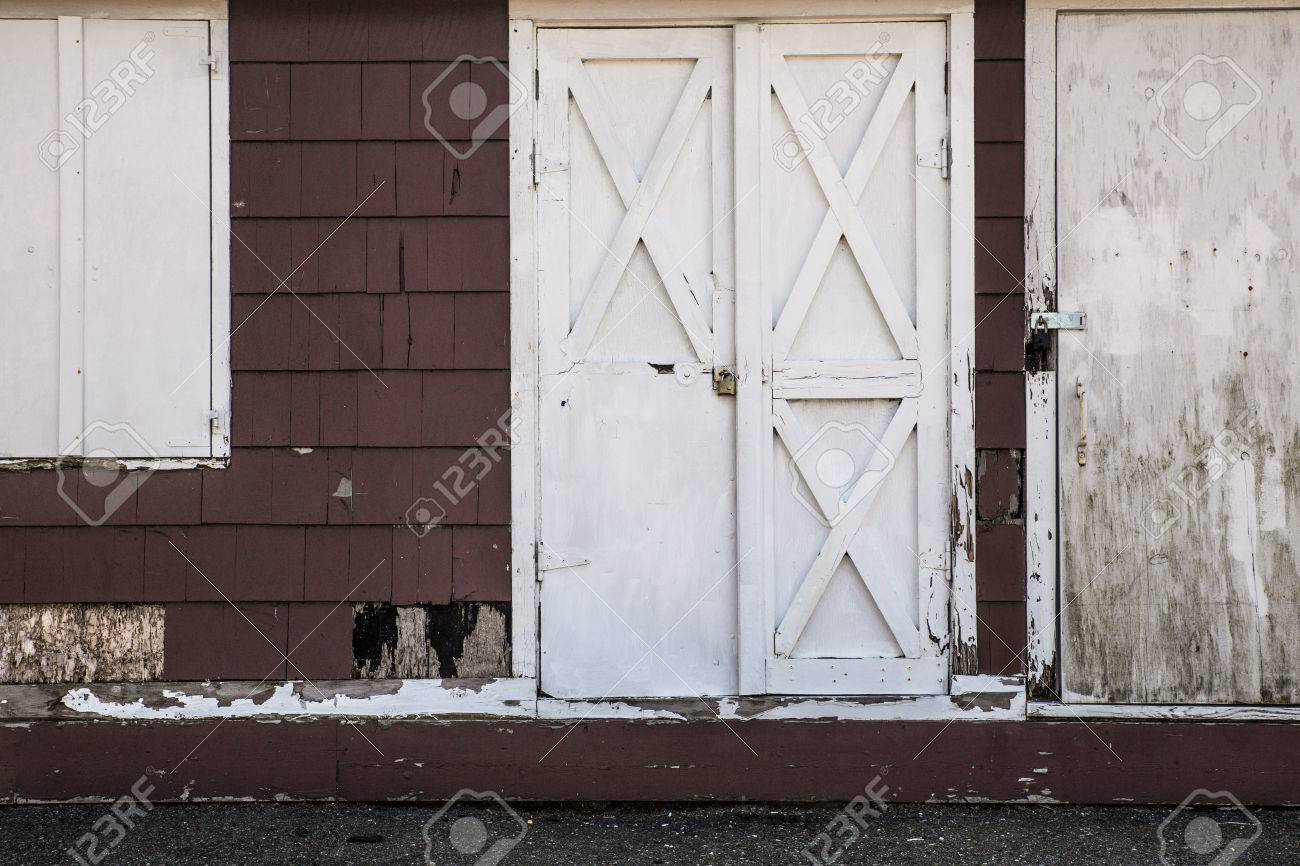 Backdrop Image Of Old White Wood Barn Door Stock Photo Picture And