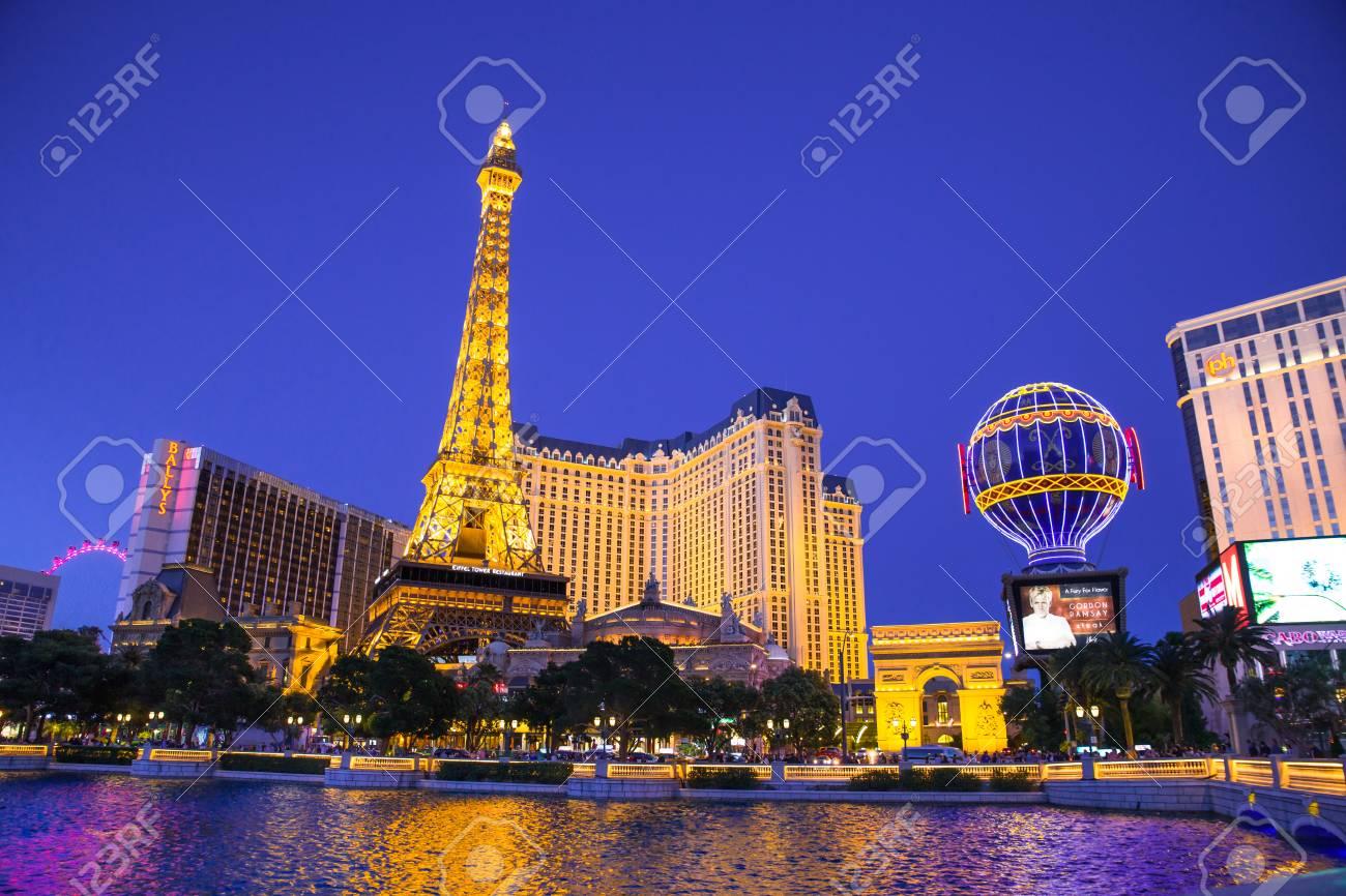 Las Vegas Nevada May 17 2017 Beautiful Night View Of Las