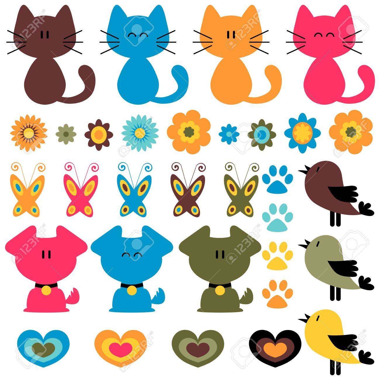Sweet colorful childish elements set Stock Vector - 15672834