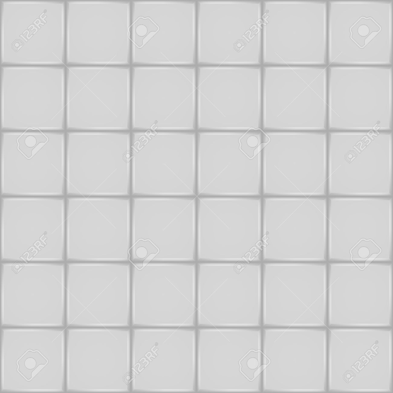 Vector   White Ceramic Tile Bathroom Wall Or Floor Seamless Pattern