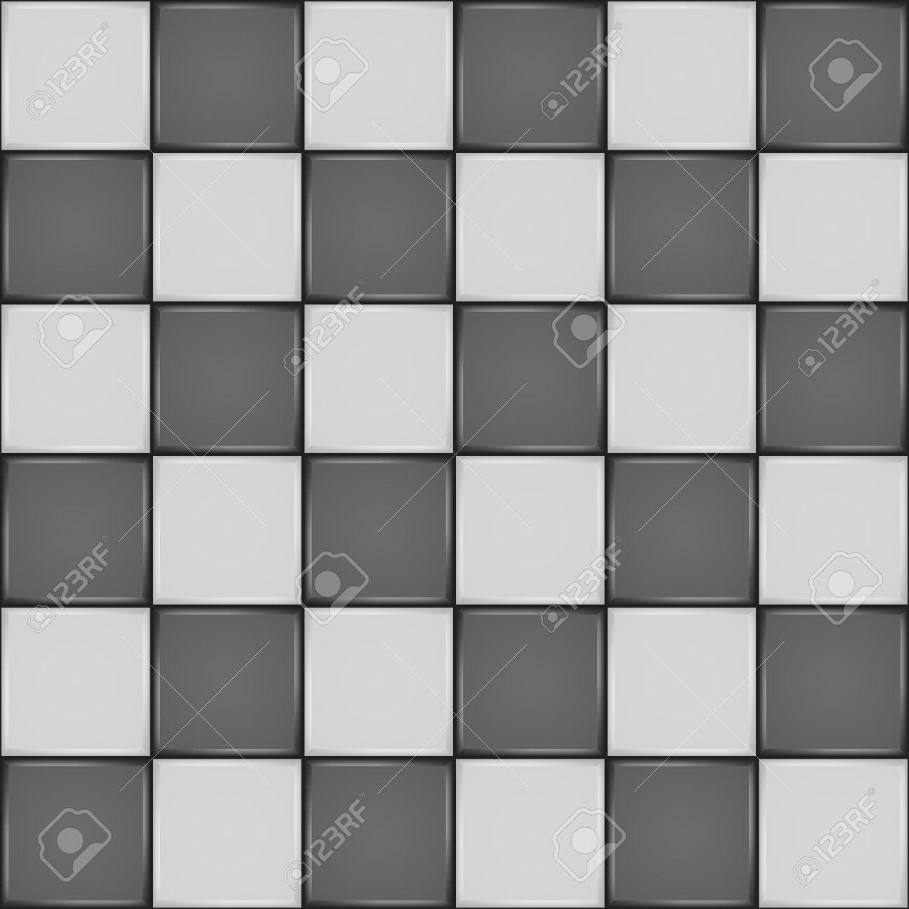 Black And White Ceramic Tile Bathroom Wall Or Floor Seamless ...