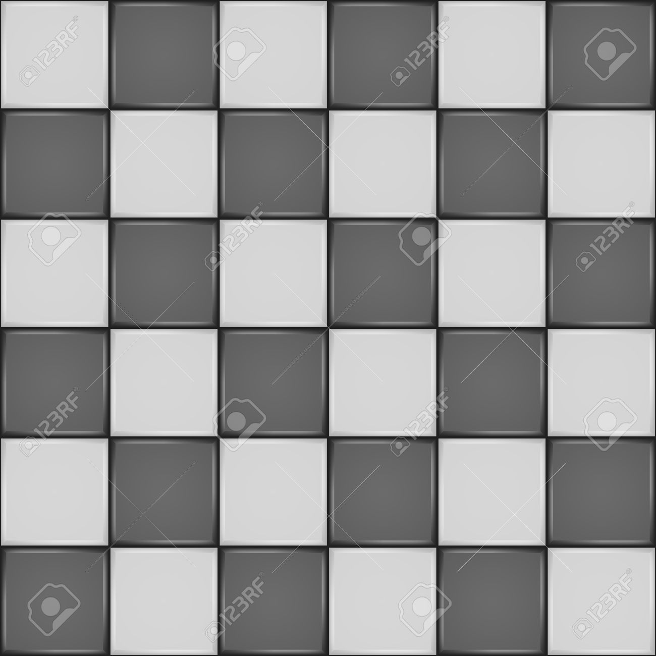 Black And White Ceramic Tile Bathroom Wall Or Floor Seamless ...