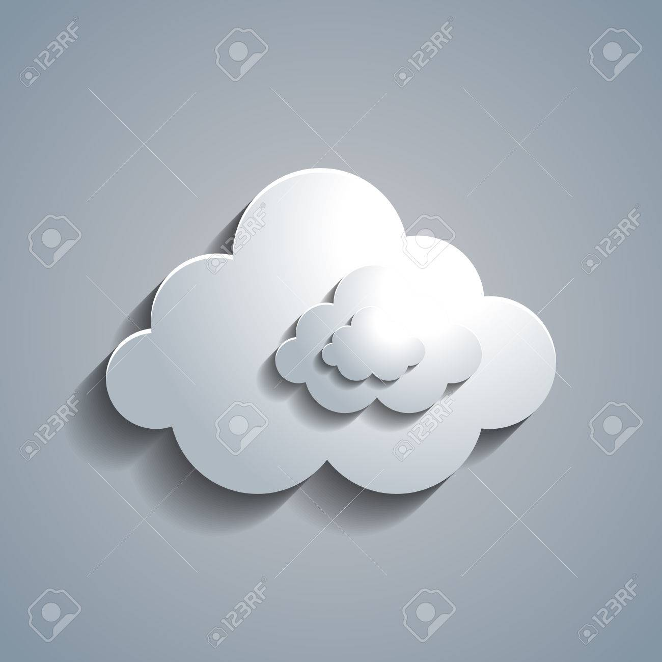 simple white paper cloud template royalty free cliparts vectors