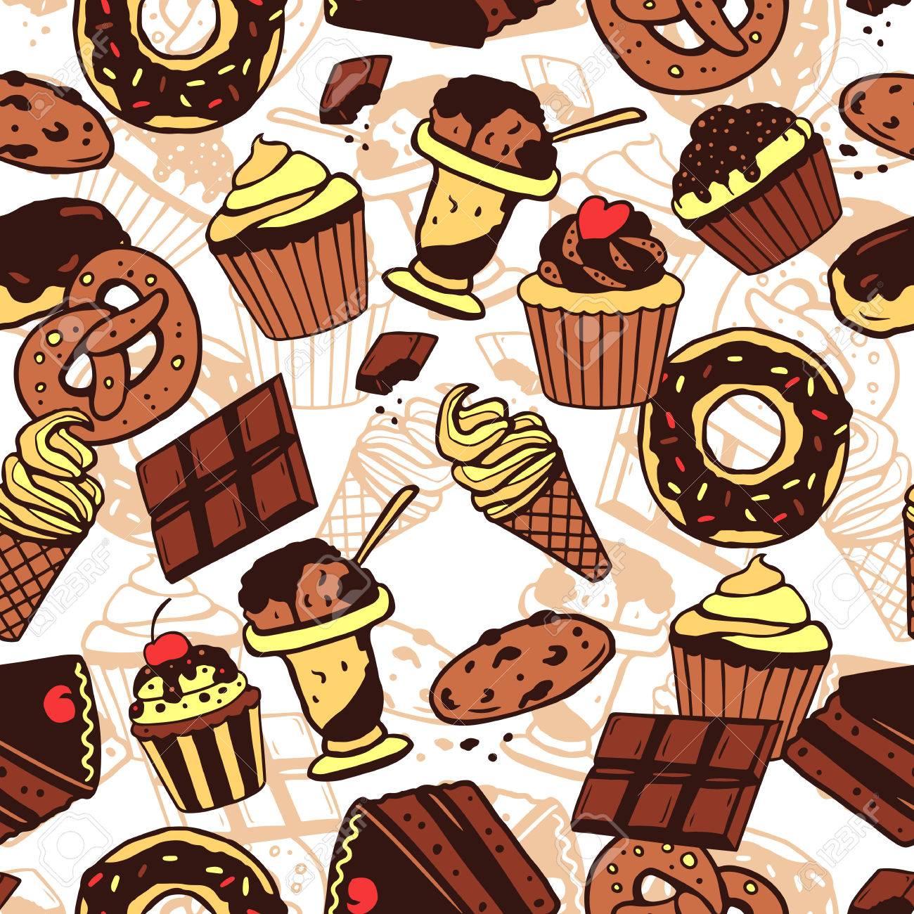 甘い食品 ケーキ チョコレート アイスクリーム クッキーとの