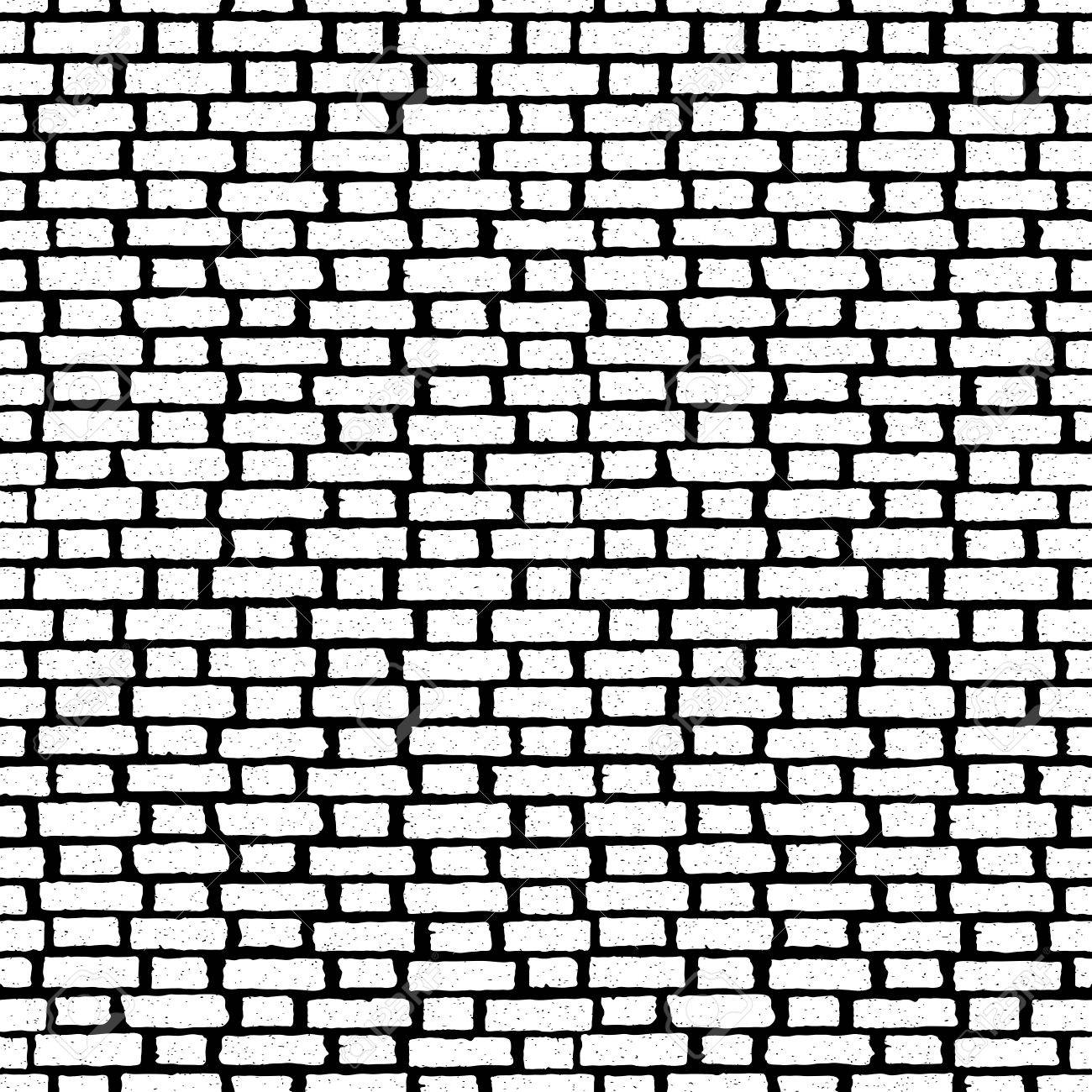 Brick Wall Tile Seamless Pattern With Bricks Vector Texture For Wallpapers