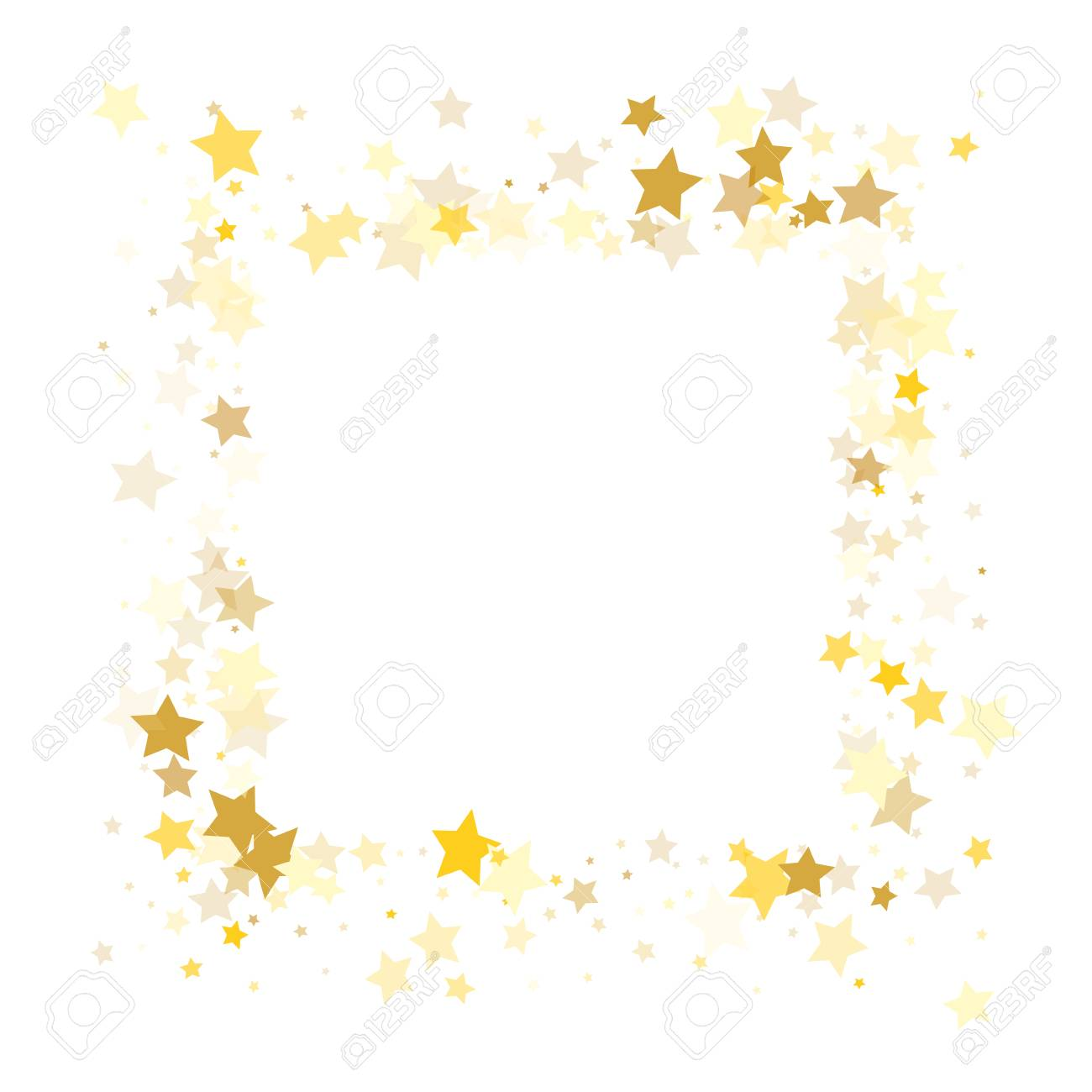 banco de imagens random falling golden stars on honologram background magic flying stars confetti banner greeting card christmas and new year card
