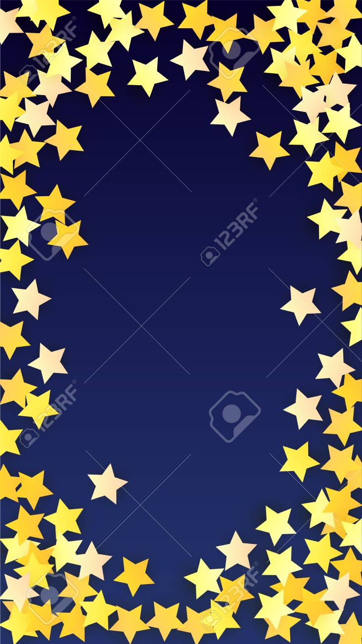 abstract background with many random falling golden stars confetti invitation background banner greeting