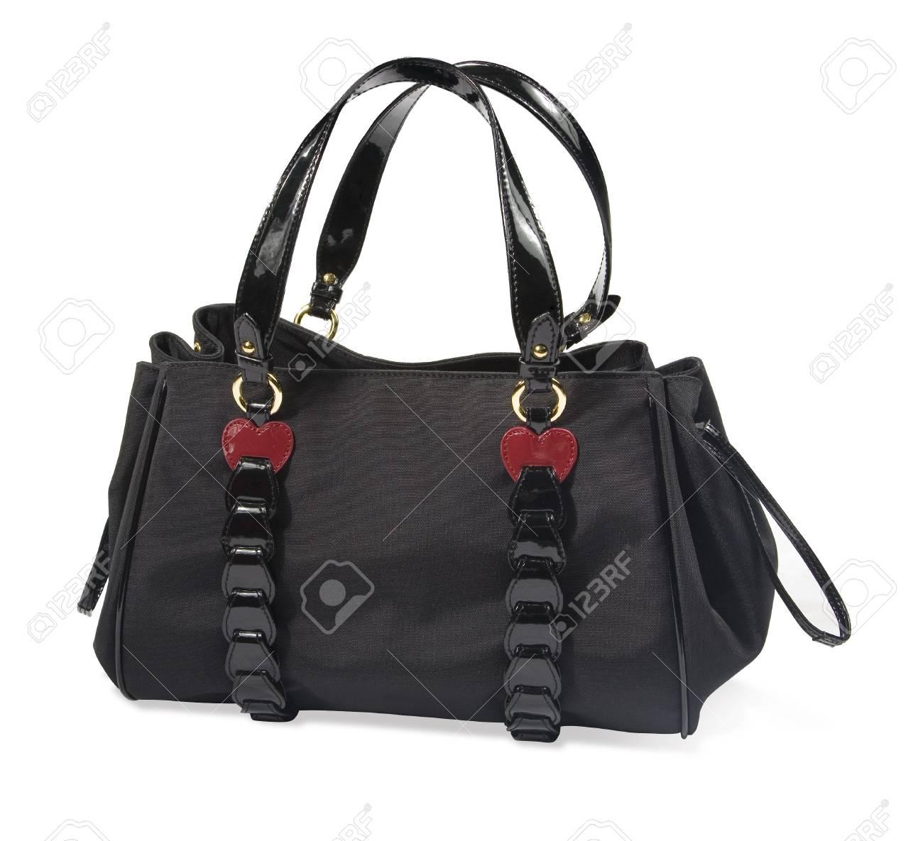 Black women handbag isolated on white background Stock Photo - 4668012