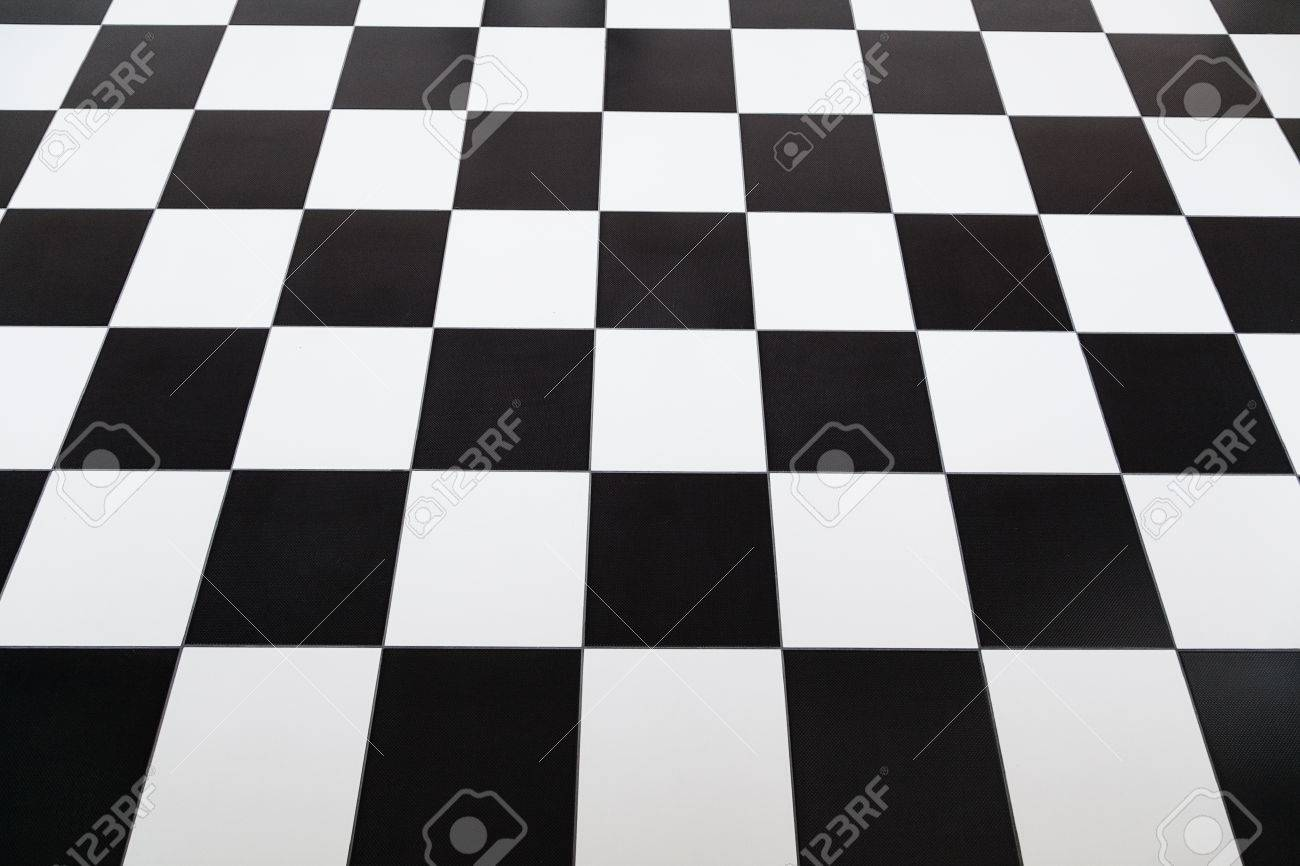 Checkered styled tile floor with selective focus Stock Photo - 25089619