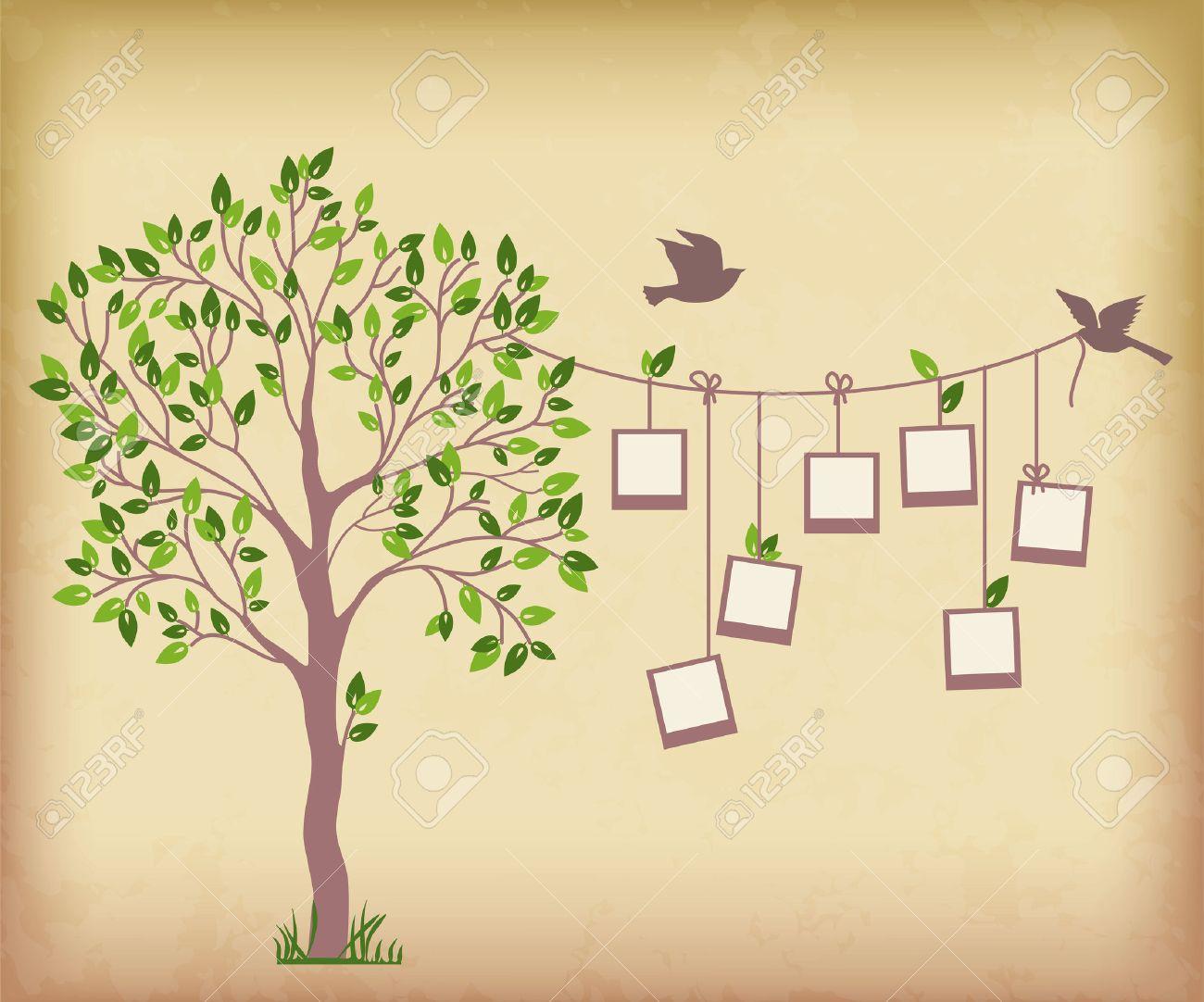 Recuerdos árbol Con Marcos De Fotos Inserte Sus Fotos En Marcos ...