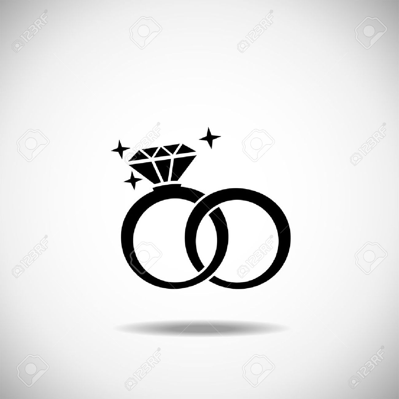 Wedding rings vector  Wedding Rings Icon On A White Background Royalty Free Cliparts ...
