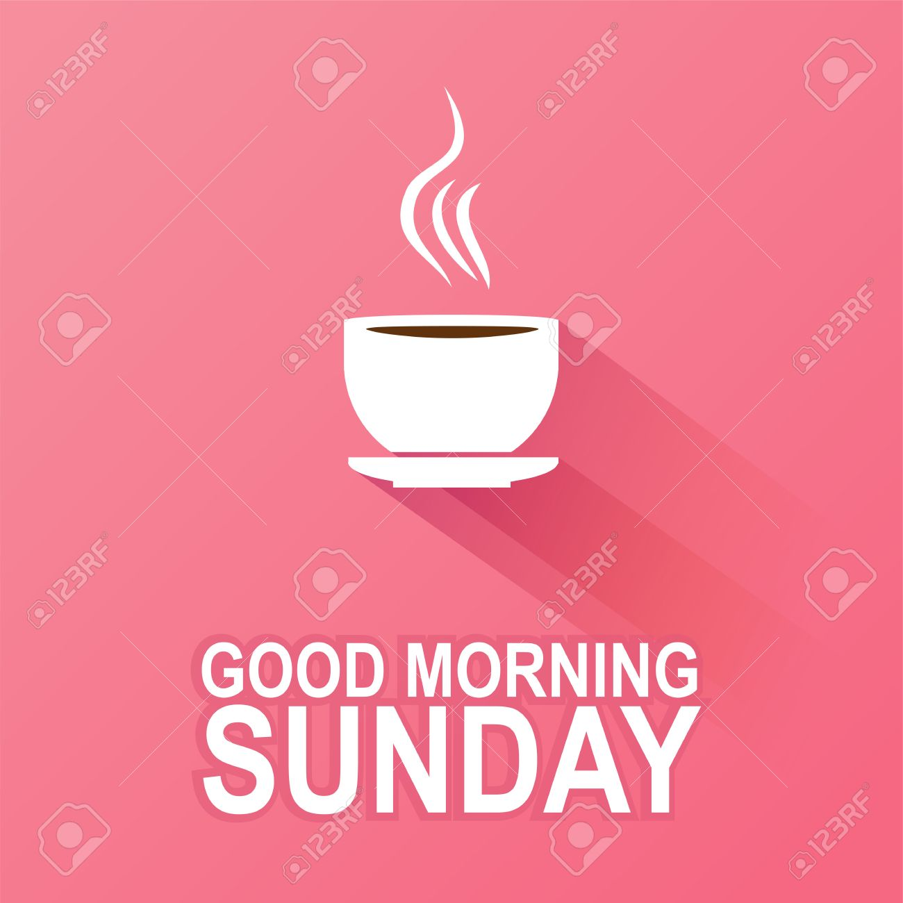 Text Good Morning Sunday On A Pink Background Royalty Free Cliparts