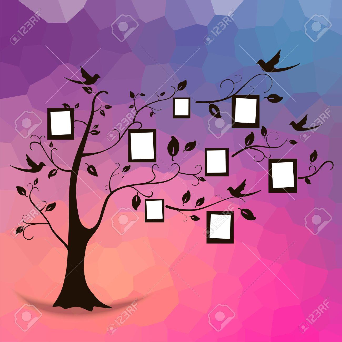 Diseño Del árbol De Familia, Inserta Sus Fotos En Marcos ...