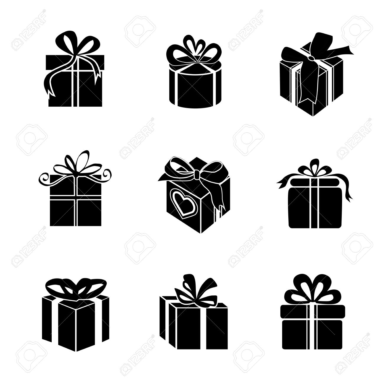 Gift box vector icon silhouette on white background royalty gift box vector icon silhouette on white background stock vector 31969622 negle Image collections