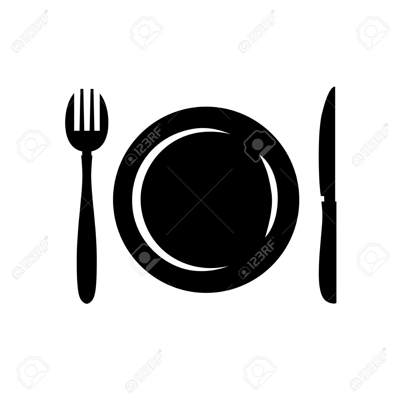 Restaurant And Menu Symbol Logo Cutlery Vector Illustration