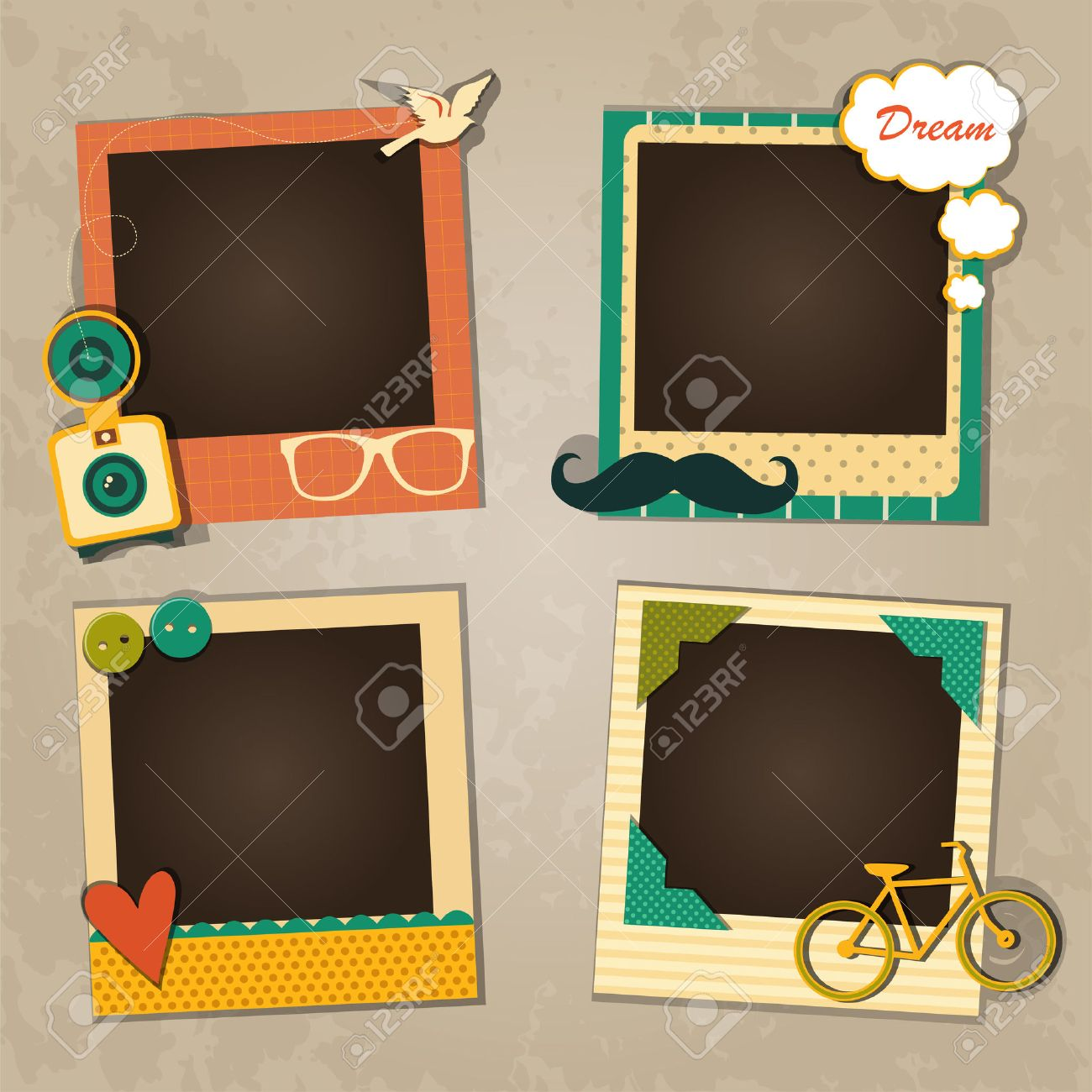 Decorative Template Frame Design For Baby Photo And Memories Royalty Free Cliparts Vectors And Stock Illustration Image 33526018