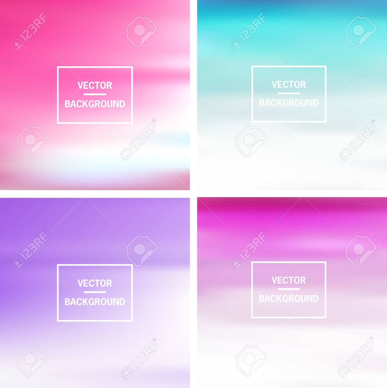 Abstract colorful template blurred vector backgrounds. Elements for your website, application, banner, presentation. - 43947677