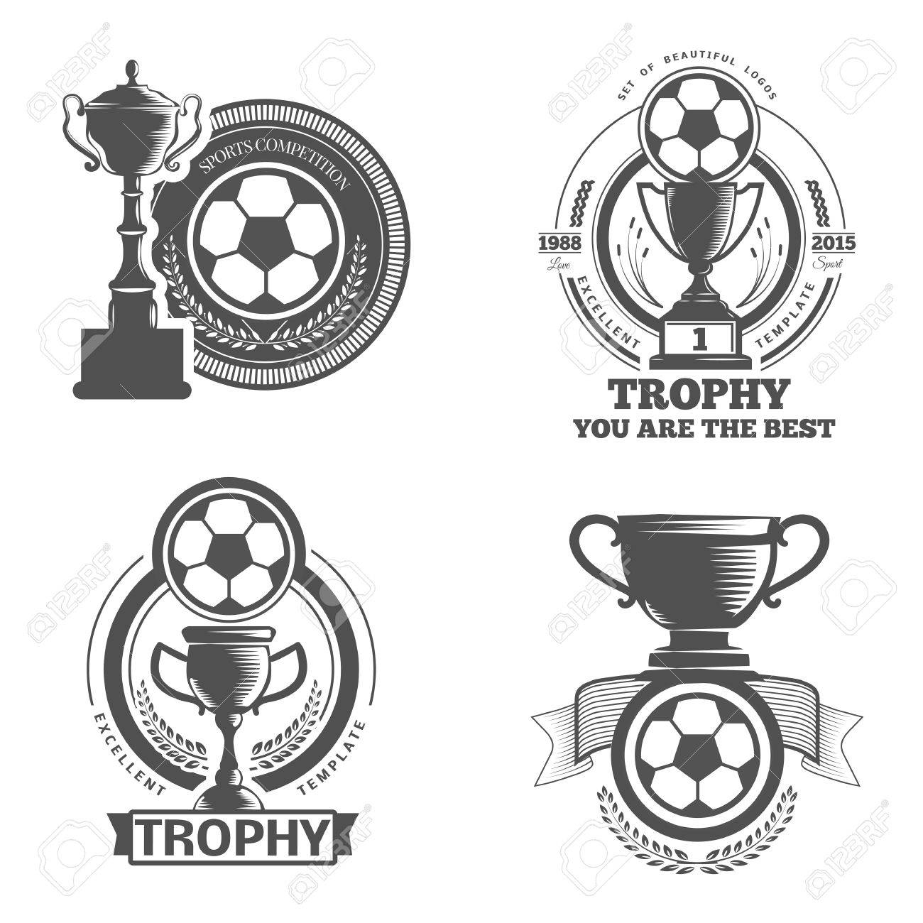 Vector set sport emblems. Logo badges and labels Football icon - 44874331