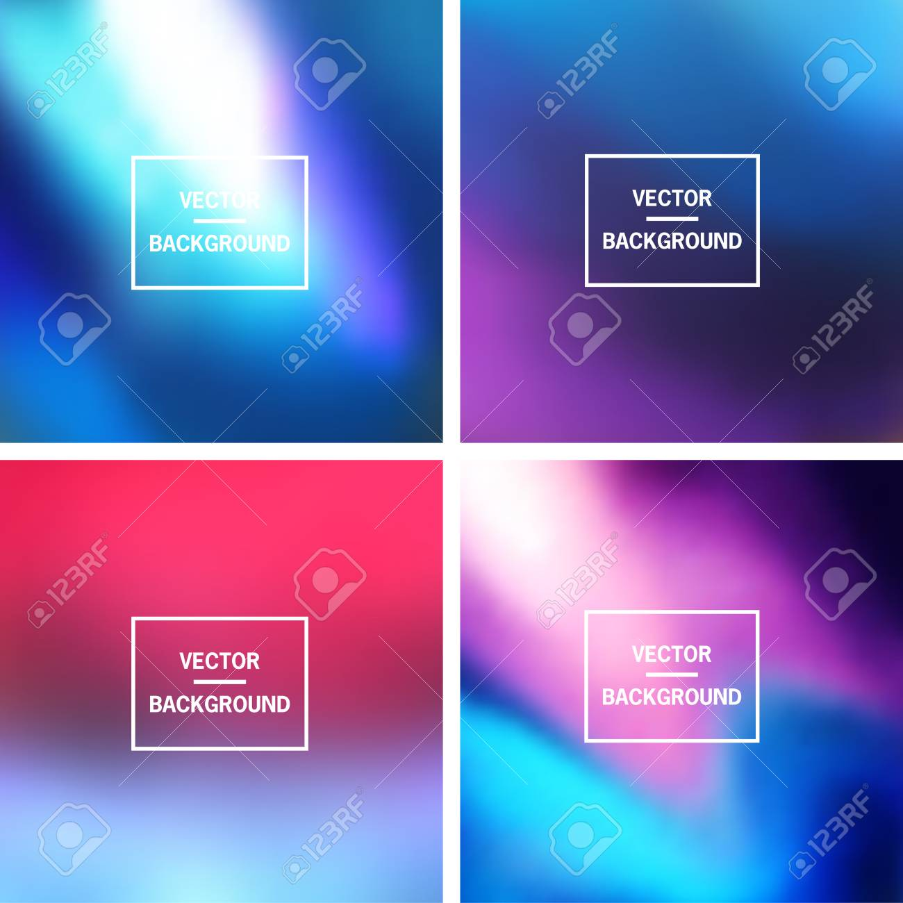 Abstract colorful blurred vector backgrounds. Elements for your website or presentation. - 46960781