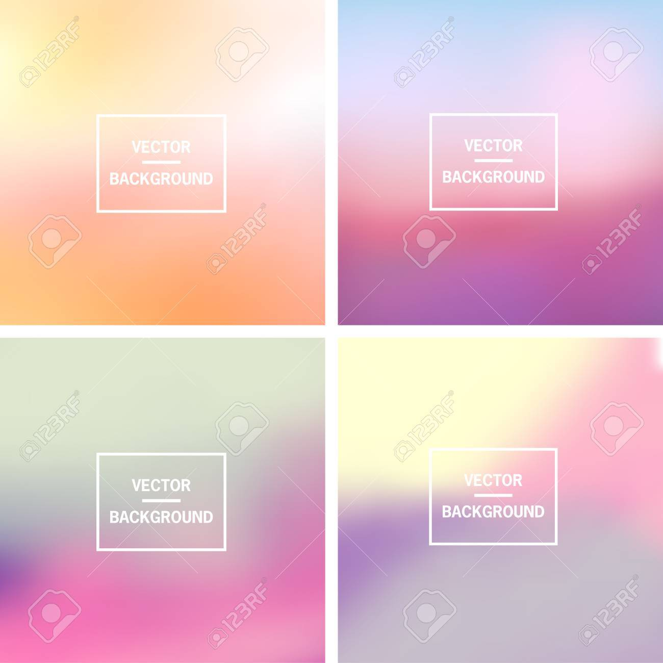 Abstract colorful blurred vector backgrounds. Elements for your website or presentation. - 46960866