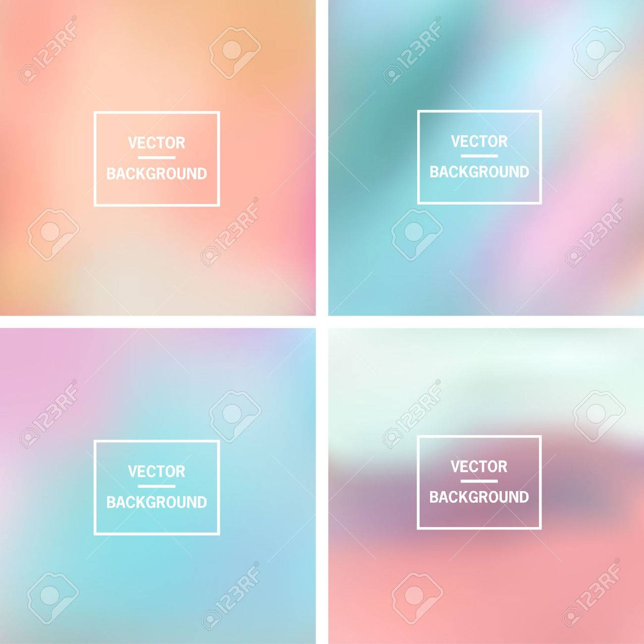 Abstract colorful blurred vector backgrounds. Elements for your website or presentation. - 46960889